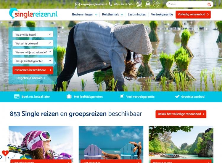 Nieuwe website Singlereizen.nl